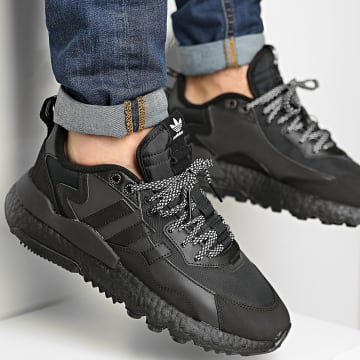 Adidas Originals - Baskets Nite Jogger Winterized FZ3661 Core Black Footwear White