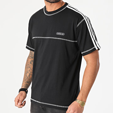 Adidas Originals - Tee Shirt A Bandes Contrast Stitch GN3886 Noir