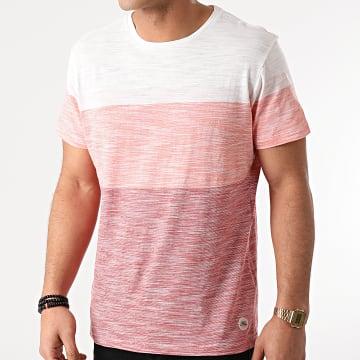 Blend - Tee Shirt 20711678 Rouge Blanc Chiné
