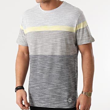 Blend - Tee Shirt 20711678 Bleu Marine Gris Kaki Chiné