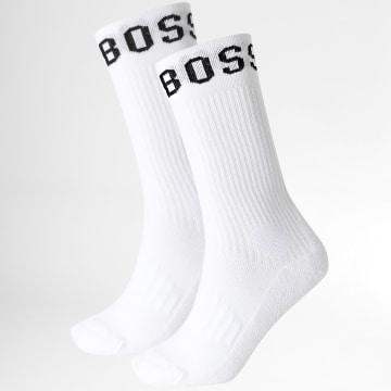 BOSS - Lot De 2 Paires De Chaussettes Sport 50388454 Blanc