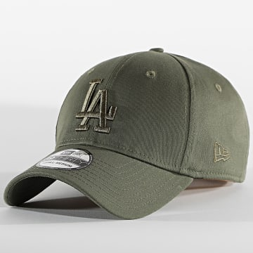 New Era - Casquette Fitted 39Thirty League Essential 60112579 Los Angeles Dodgers Vert Kaki