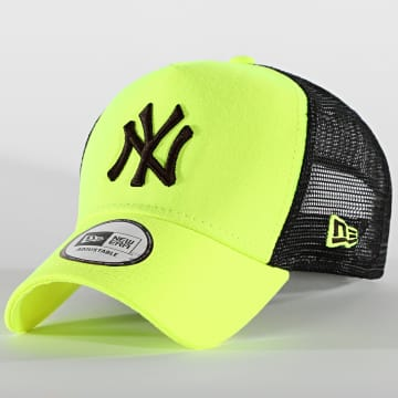 New Era - Casquette Trucker Camouflage New York Yankees Neon 12747721 Jaune Fluo Noir