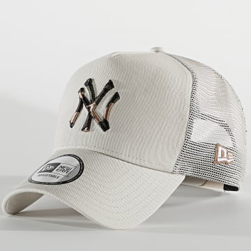 New Era - Casquette Trucker Camo Infill 60112692 New York Yankees Beige