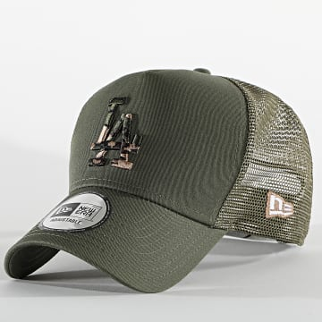 New Era - Casquette Trucker Camo Infill 60112694 Los Angeles Dodgers Vert Kaki