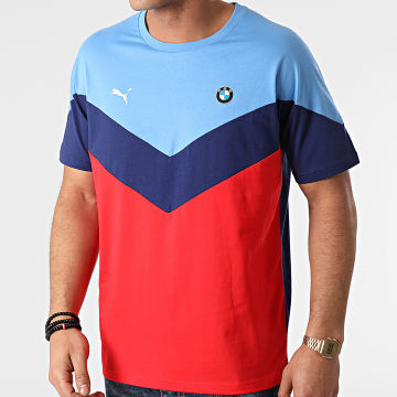 Puma - Tee Shirt BMW MMS MCS 599505 Bleu Marine Rouge