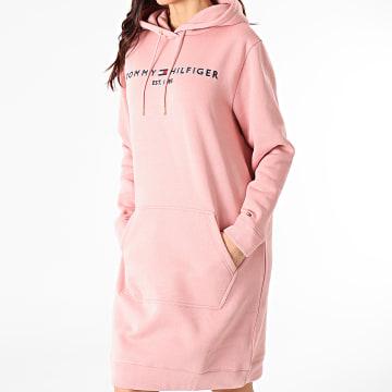 Tommy Hilfiger - Robe Sweat Capuche Femme Essential 0061 Rose