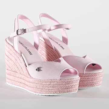 Calvin Klein - Sandades Femme Wedge 0121 Pearly Pink