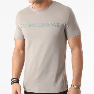 Calvin Klein - Tee Shirt Slim Institutional Logo 7856 Gris
