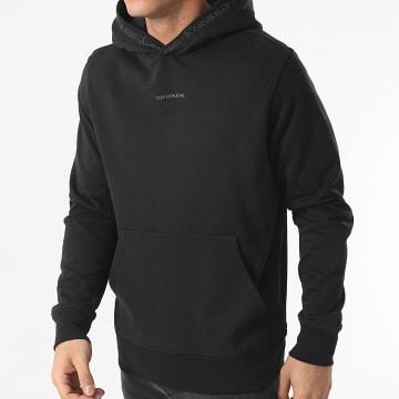 Calvin Klein - Sweat Capuche Logo Jacquard 7043 Noir