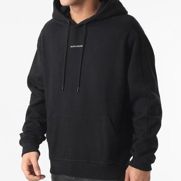 Calvin Klein - Sweat Capuche Micro Branding 7388 Noir