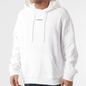 Calvin Klein - Sweat Capuche Micro Branding 7388 Blanc