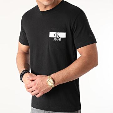 Calvin Klein - Tee Shirt Poche Horizontal CK 7671 Noir