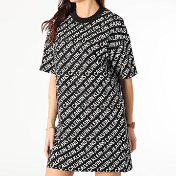 Calvin Klein - Robe tee shirt Femme AOP 5678 Noir