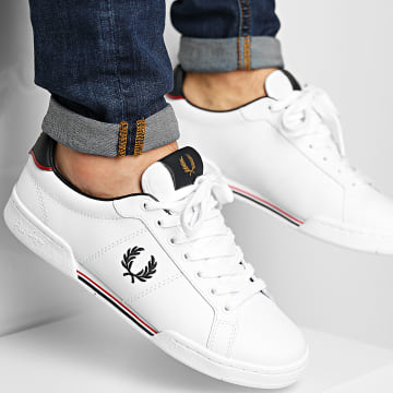 Fred Perry - Baskets B1252 Leather White