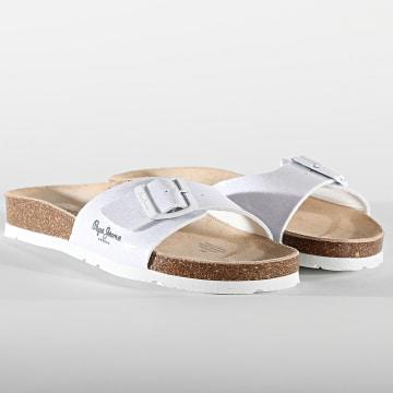 Pepe Jeans - Sandales Femme Oban Ori PLS90483 White