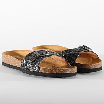 Pepe Jeans - Sandales Femme Oban Twist PLS90527 Factory Black