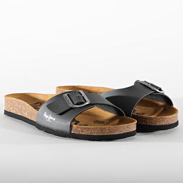 Pepe Jeans - Sandales Bio Basic MFR PMS90092 Dark Grey