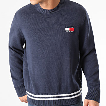 Tommy Jeans - Pull Badge Textured 0180 Bleu Marine