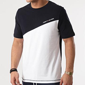 Tommy Sport - Tee Shirt Blocked 7281 Bleu Marine Blanc
