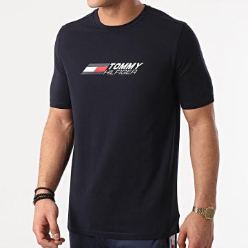 Tommy Sport - Tee Shirt Logo 7282 Bleu Marine
