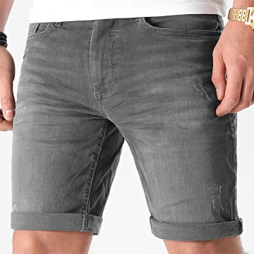 Blend - Short Jean Slim Twister 20711770 Gris Anthracite