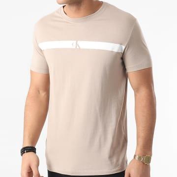 Calvin Klein - Tee Shirt Horizontal CK Panel 7165 Beige