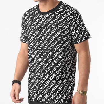 Calvin Klein - Tee Shirt AOP Diagonal 8066 Noir
