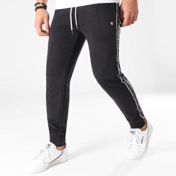 Champion - Pantalon Jogging A Bandes 214226 Noir