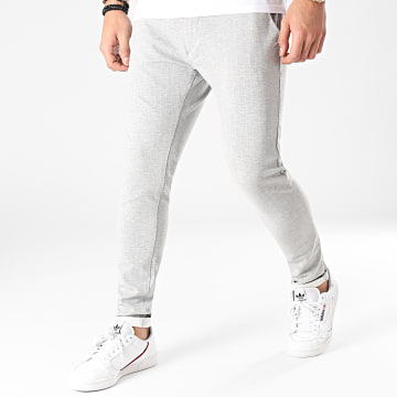 Classic Series - Pantalon A Carreaux Ponte Roma DP7001 Gris Chiné