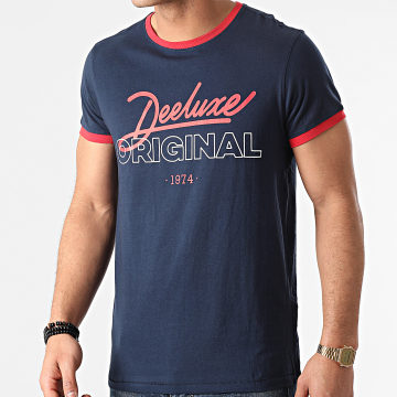 Deeluxe - Tee Shirt Hylton Bleu Marine Rouge