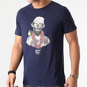 Deeluxe - Tee Shirt Aloha Bleu Marine
