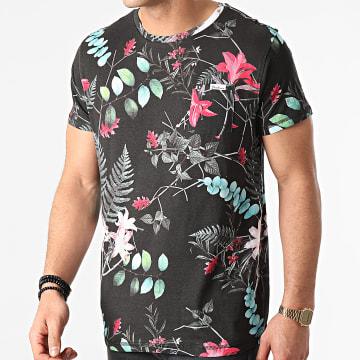 Deeluxe - Tee Shirt Poche Floral Caititiu Noir