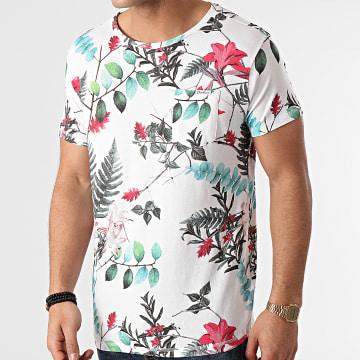 Deeluxe - Tee Shirt Poche Floral Caititiu Blanc