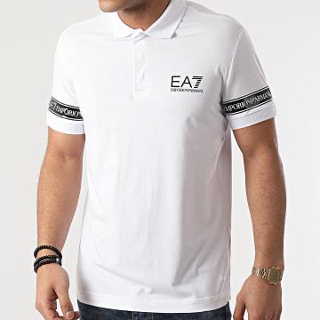 EA7 Emporio Armani - Polo Manches Courtes 3KPF04-PJ03Z Blanc