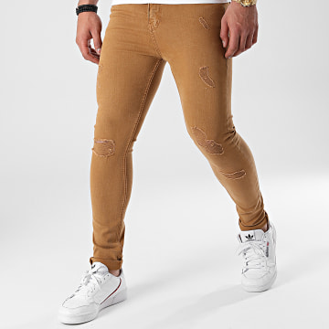 LBO - Jean Super Skinny Fit Destroy 1156 Denim Camel