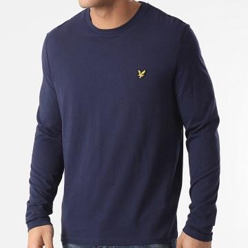 Lyle And Scott - Tee Shirt Manches Longues TS512V Bleu Marine