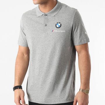 Puma - Polo Manches Courtes BMW MMS 599534 Gris
