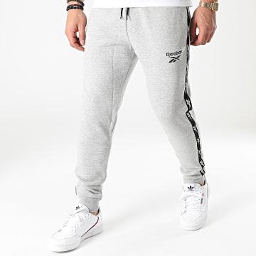 Reebok - Pantalon Jogging A Bandes GU0022 Gris Chiné