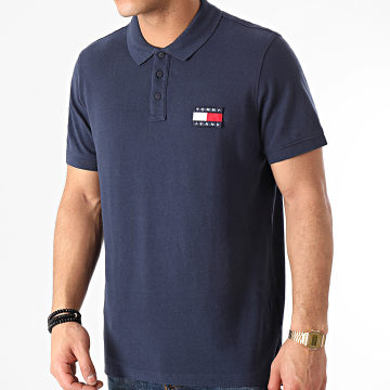 Tommy Jeans - Polo Manches Courtes Tommy Badge 0327 Bleu Marine