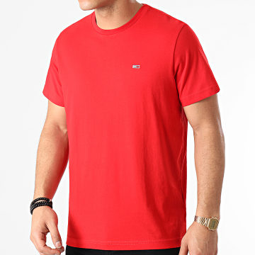 Tommy Jeans - Tee Shirt Tommy Classics 0101 Rouge