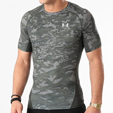Under Armour - Tee Shirt Compression 1361519 Camouflage Vert Kaki