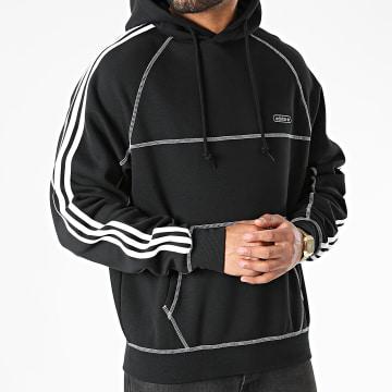 Adidas Originals - Sweat Capuche A Bandes Contrast Stitch GN3891 Noir