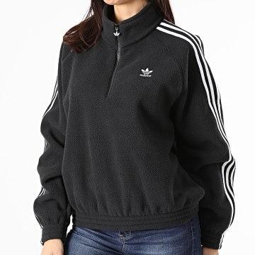 Adidas Originals - Veste Col Zippé Femme Fleece GN2864 Noir