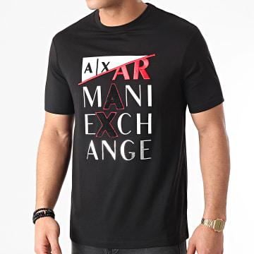 Armani Exchange - Tee Shirt 3KZTFD-ZJBVZ Noir Argenté