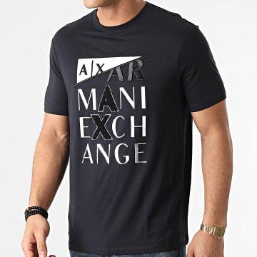 Armani Exchange - Tee Shirt 3KZTFD-ZJBVZ Bleu Marine Argenté