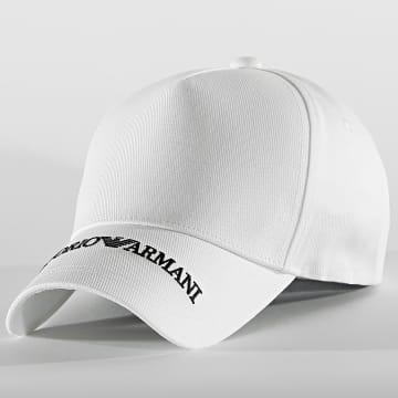 Emporio Armani - Casquette Embroidered Logo 627570 Blanc