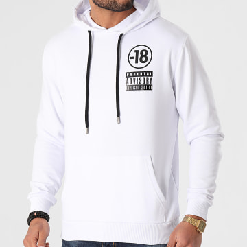 Parental Advisory - Sweat Capuche Pegi 18 Blanc