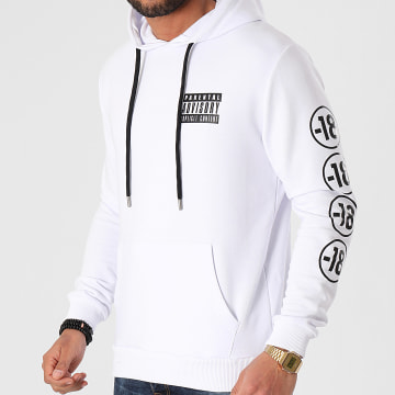 Parental Advisory - Sweat Capuche Sleeve 18 Blanc