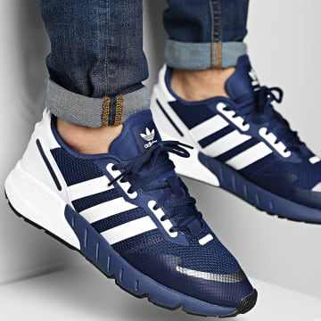Adidas Performance - Baskets ZX 1K Boost H68719 Dark Blue Footwear White Core Black